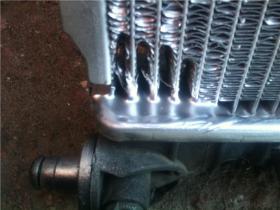 Устранение течи радиатора